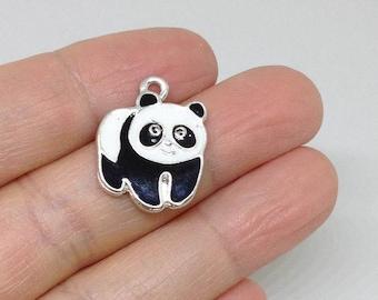 6 PIECES Panda Charm, Panda pendant, Panda Jewelry