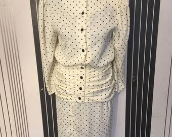 Vintage mother of the bride  suit 1980s hamells  petite size 8