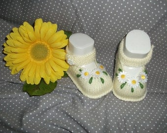 knitted baby shoes, baby shoes, baby socks, Babybooties * spring *.