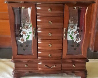Vintage large jewelry armoire Etsy