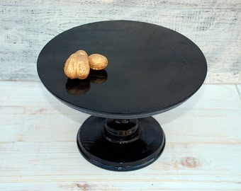 """12"""" 14"""" 16""""  inches black wood cake stand,wedding black stand,black wood cake holder,wedding muffins pedestal,muffins stand,black buffet"""