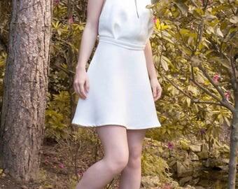 LOTUS: Dress short backless