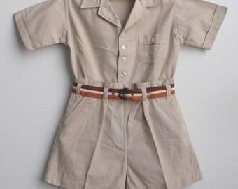 Tan short set c. 1935