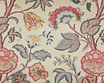Schumacher Tree of Life Linen Fabric by the yard