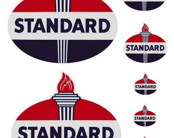 1:25 G scale model Standard Oil gas station signs
