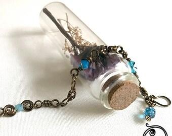 Blue Swarovski crystals antique bracelet