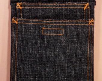Denim with gold top-stitch              28