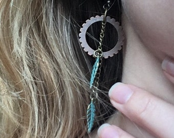 Get in Gear earrings