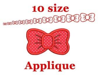 Bow applique design. Machine embroidery design. Bow embroidery design. Applique design girl bow applique. Girl bow embroidery. Bow mini.