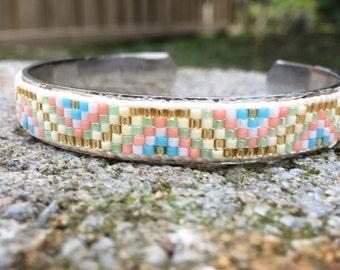 miyuki bead ring bracelet