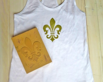 Fleur de Lis Tank Top, New Orleans Tank Top, Mardi Gras, Fleur de Lis, New Orleans, French, Louisville, Mommy And Me, Matching Tank Top