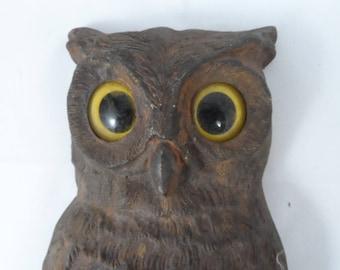 1887 Cast Iron lone Owl Andiron