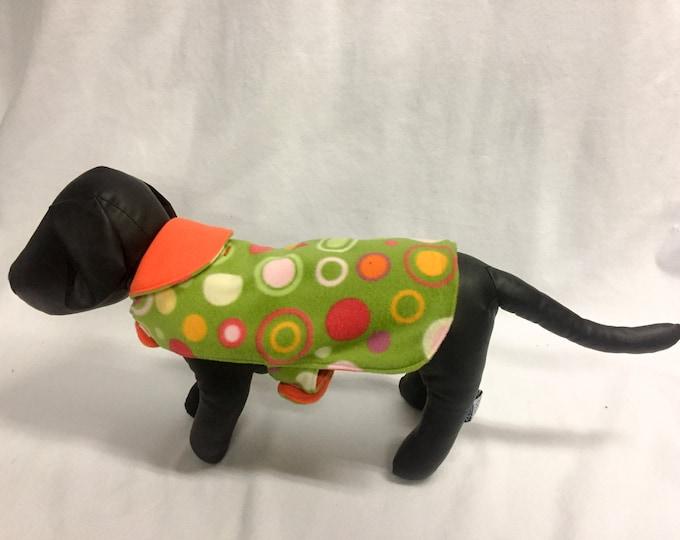Green/Orange Dog Coat 3035