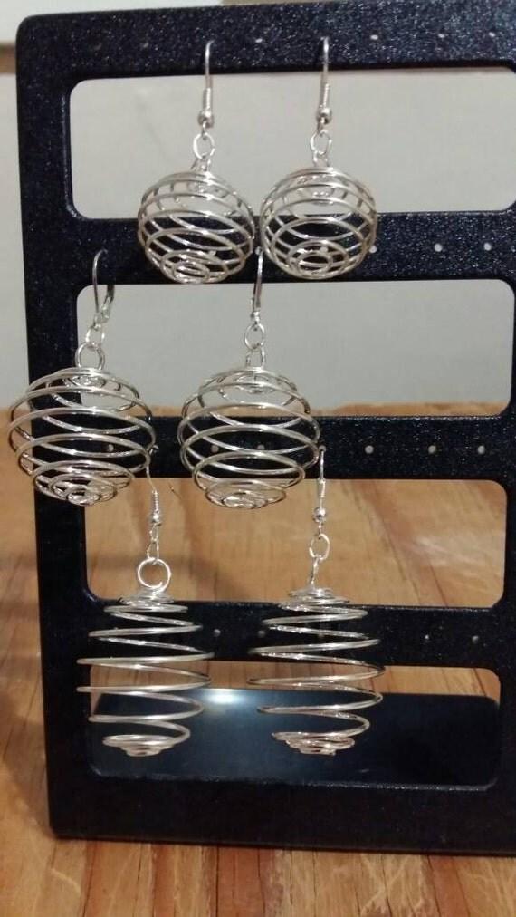 Nifty Silver Ball Earrings