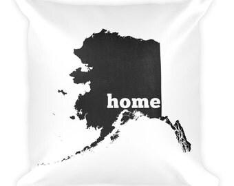 Alaska Pillow, Alaska Gifts, Alaska Decor, Alaska Home, Alaska Throw Pillow, Alaska Art, Alaska Map, Alaska Made, Alaska Cushion, Alaska AK