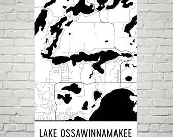 Great Lakes Art Great Lakes Map Great Lakes Print Great
