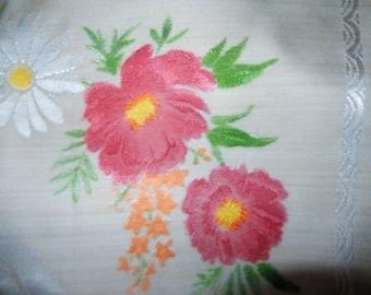 Beautiful Damask Tablecloth, Vintage Floral Damask Tablecloth, Wedding Tablecloth, Retro Tablecloth, Vintage Floral, Tearooms, Cafe