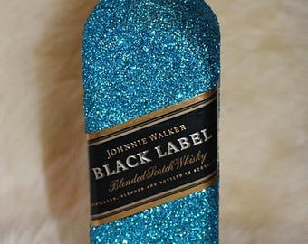 Sparkling black label bottle