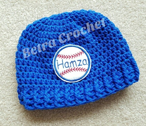 3d8cd47f ... Names Of Different Hats: Baseball Baby Hat Personalized Crochet Hat By  BetraCrochet