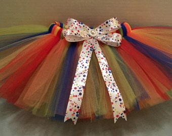 RAINBOW TUTU, Multi Color Tutu, Baby Tutu, Birthday Tutu, Red Tutu, Yellow Tutu, Infant Tutu, Tutu for Babies, Newborn Tutu, Blue Tutu