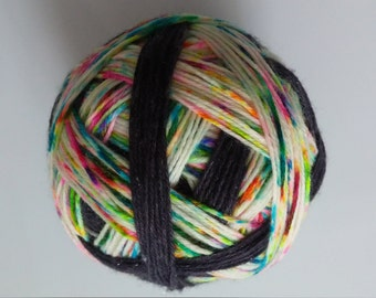"Self Striping Speckled Sparkle Sock Yarn - ""Wild-n-Wooly"""