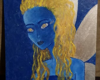 Blue Fairy Painting