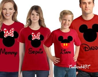 Family Disney Shirts, Disney Family Shirts, Matching Shirts Disney, Mickey and Minnie Head Shirts, Women's Disney Shirt, Disney Trip Shirts
