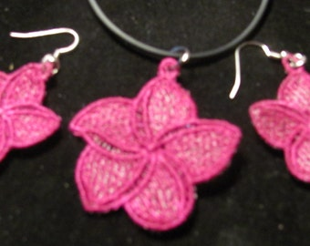 Sharon Orchid Necklace & Earring Set