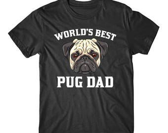 World's Best Pug Dad Dog Owner Graphic T-Shirt