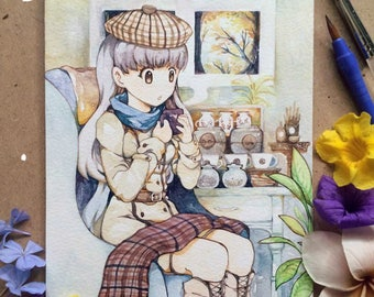 """Winter Coffee  - A5 """"Original"""" Watercolor Painting"""