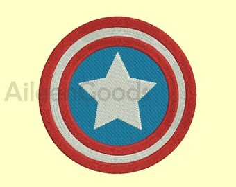 Captain America  Logo Embroidery  design 10 Size  INSTANT download machine embroidery