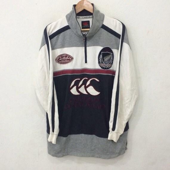 Rare!!Vintage CANTERBURY of new zealand sweatshirt since 1904 international big logo