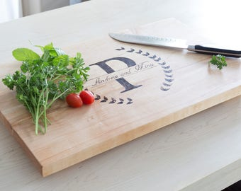 Large Solid Maple Cutting Board