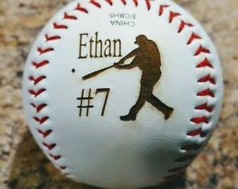 Custom Laser engraved baseballs..