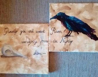 Nevermore Edgar Allen Poe Raven Painting