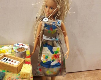 PAINTING apron for Barbie