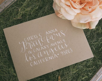 Custom Calligraphy for Envelopes