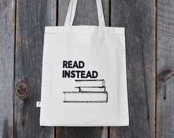 Read Instead Tote Bag