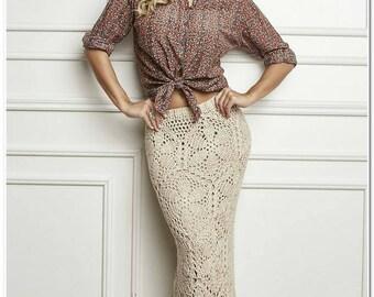 Crocheted long skirt, Crochet maxi skirt - Made to order