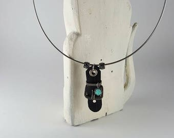 Upcycled bike part necklace