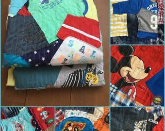 Blanket made from your favorite babyclothes-Dressing of your favorite baby and children clothes