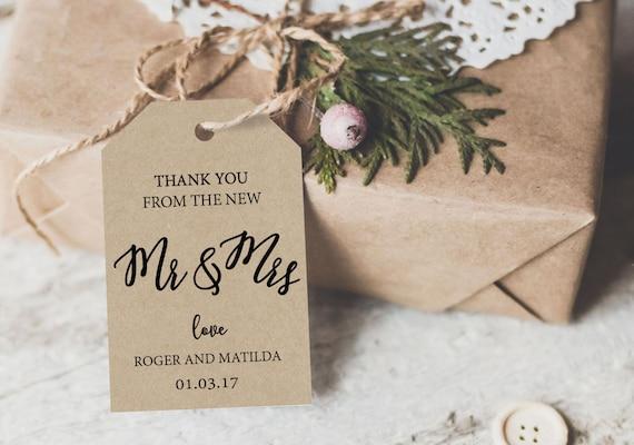 Thank You Tag, Wedding Printable, Wedding Favor Tag, Wedding Thank You Tags, Wedding Favor, Personalized Thank You, We Do Honey, WDH0239