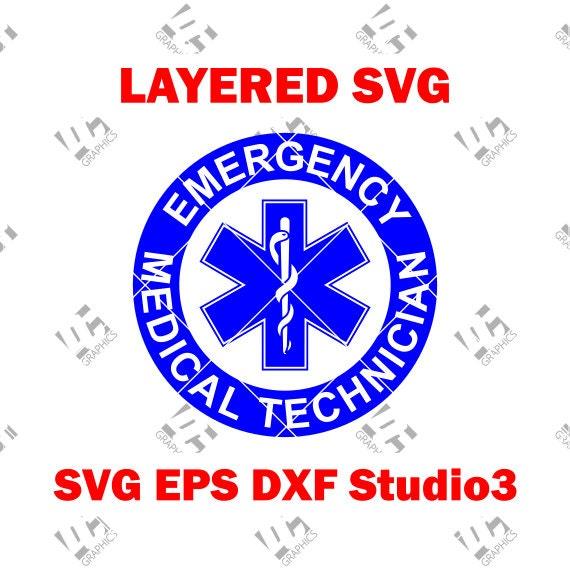 Ems Star Of Life Round Emt Logo Emergency Medical