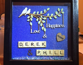 Love & happiness personalised frame