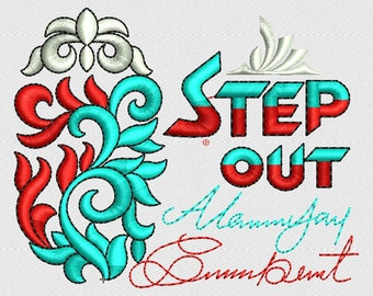 step out monogram embroidery design, machine embroidery design logo,monograms pattern,paadar club