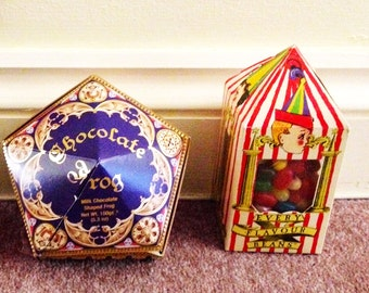 Chocolate frog box Replica and bertie botts box not affiliated with owner of TM Harry Potter chocolate frog box potter candy honeydukes