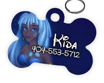 Disney Princess 'Kida' Kidagakash Custom Personalized Pet Tag for Dog