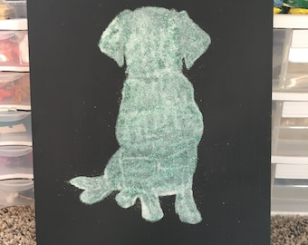 Puppy Glitter Art