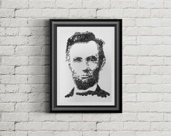 Abe Lincoln Button artwork