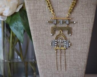 The Porsha tribal statement necklace
